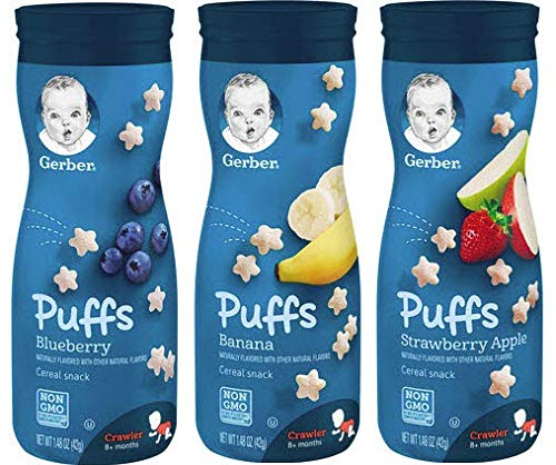 Gerber Graduates Cereal Variety Snack Pack Sampler of Puffs, Yogurt Melts, Lil Crunchies + 1 Snack Catcher; Bundle of 10 by Narrow Path Sales (Image #7)