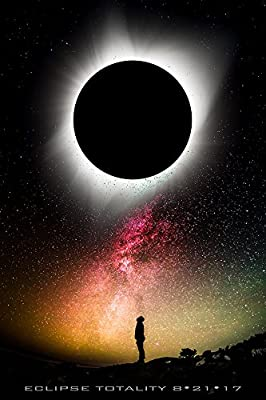 "Total Solar Eclipse Commemorative Poster - NASA Space Image Poster 24"" x 36"" (Unframed) - Certified DigitalFusion CTI Print with Archival Inks. Printed in the U.S.A"