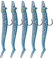 QualyQualy Fishing Jigs Saltwater Freshwater Sinking Soft Fishing Lures Swimbaits 4.7in 0.77oz Lead Fishing Ji