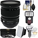 Sigma 24-105mm f/4.0 Art DG OS HSM Zoom Lens 3 UV/CPL/ND8 Filters + Flash + Soft Box + Diffuser Kit Nikon Digital SLR Cameras