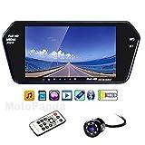 MotoPanda - 7 Inch Full HD Touch Screen Bluetooth LED Screen + 8LED Reverse Camera for Cars