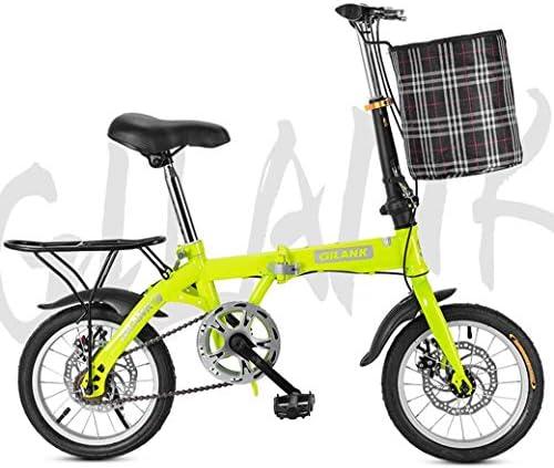 """フロントバスケットとリアテールストックで自転車を折りたたみ、20"""" 軽量折りたたみ市自転車バイクダブルディスクブレーキ"""