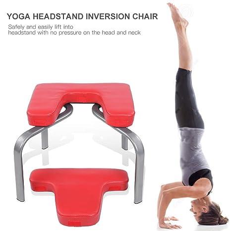 Taburete Yoga Inversion, Práctica de Yoga Equipo de Fitness Auxiliar Multifuncional, para Hacer Ejercicio en la Familia y el Gimnasio