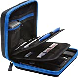 2ds Nintendo Case Best Deals - BRENDO Nintendo 2DS Carry-all Hard Case with 24 Game Holders (Money Back Guarantee) - Black/Blue