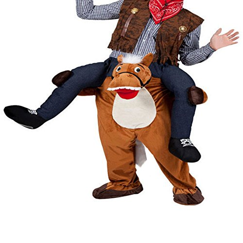 Unisex Ride On Riding Shoulder Adult Costume,Horse Costume
