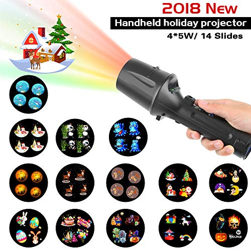 Handheld Christmas Projector Lights, Holiday Light & Flashlight,