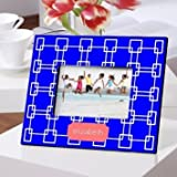 Picture Frame Grecian Blue Design Personalized
