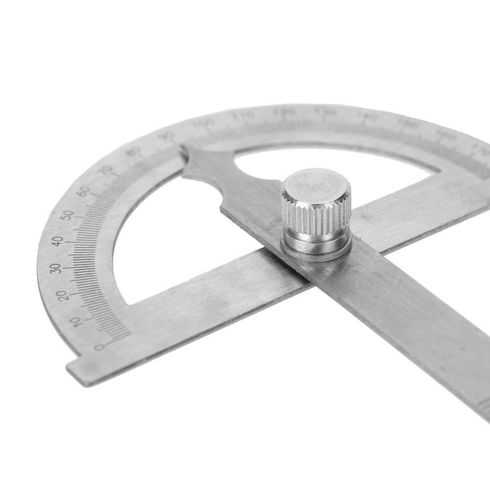 Zerone 0-180 grados de acero inoxidable transportador goni/ómetro medidor de /ángulo indicador 15 cm regla 80 * 120mm