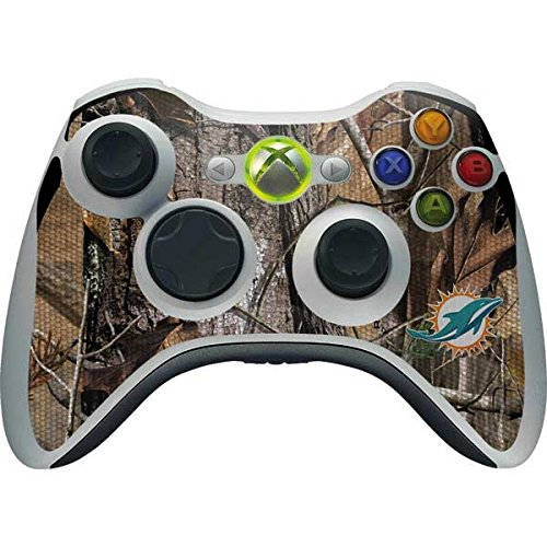 (Skinit NFL Miami Dolphins Xbox 360 Wireless Controller Skin - Miami Dolphins Realtree AP Camo Design - Ultra Thin, Lightweight Vinyl Decal Protection)