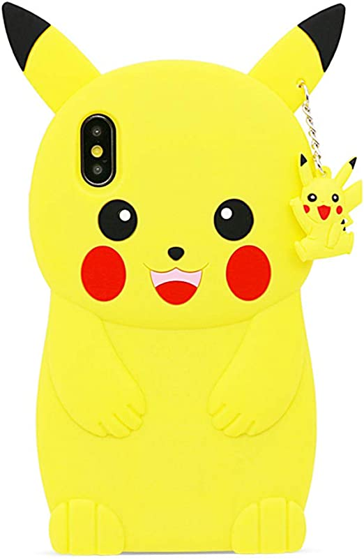 Amazon Com Befosson Cute 3d Cartoon Pikachu Case For Iphone X Xs For Girls Teens Women Kids Boys Iphone X Xs Funny Kawaii Pokemon Pikachu Soft Silicone Rubber Phone Cover Case Yellow 5 8 Inches
