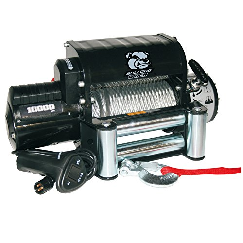 Bulldog Winch 10005 Winch (10000lb with 5.8hp Series Wound Motor, Integrated Power Unit, Roller Fairlead, 87 ft. Wire Rope)