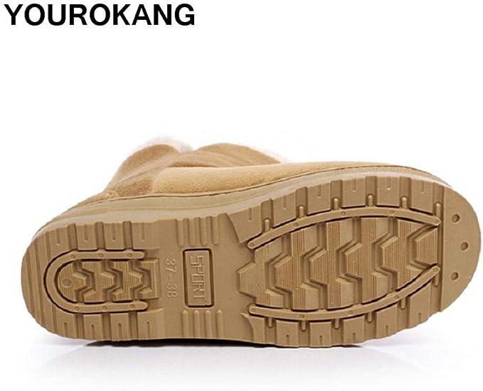 WMSLPHSF Botas de Tobillo para Mujer Zapatos cálidos de