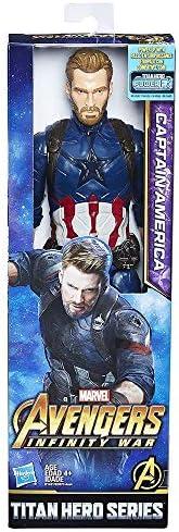 Avengers Boneco Capitão América Azul Vermelho/Branco/Azul 30cm