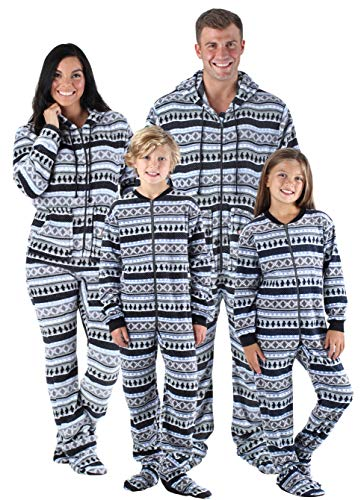 SleepytimePjs Family Matching Onesie PJs Footed Pajamas Women's Penguin Fair Isle