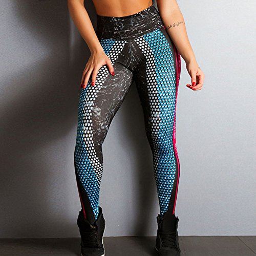 Impreso Casual Negro Pantalón Leggings Pantalones para 3D Fit Alta Elástico Aptitud Slim Skinny Deportivos Moda Mujer Pantalones Cintura Yying nOXUzZFqq