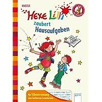 Hexe Lilli zaubert Hausaufgaben: Der Bücherbär. Ausgabe mit Silbentrennung