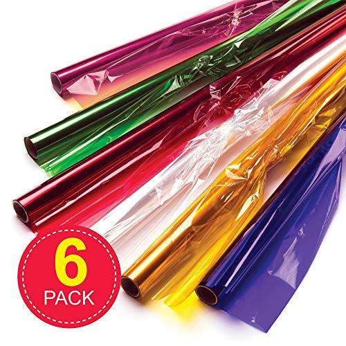 Super Six Assortment of Cellophane Clear Film Rolls