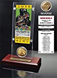 NFL Green Bay Packers Super Bowl 2 Ticket & Game Coin Collection, 12'' x 2'' x 5'', Black