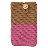 Etcetera Handmade Crocheted Protactive Smartphone Mobile Cell Phone Purse Cover Pouch Bag For Micromax Joy X1800