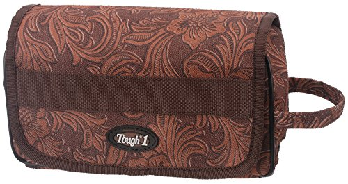 Tough 1 Roll Up Accessory Bag in Prints, Tooled Leather Brown