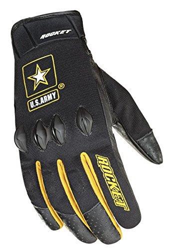 Glove Black Mesh Joe Rocket (Joe Rocket U.S. Army Stryker Mens Black Mesh Motorcycle Gloves - Large)