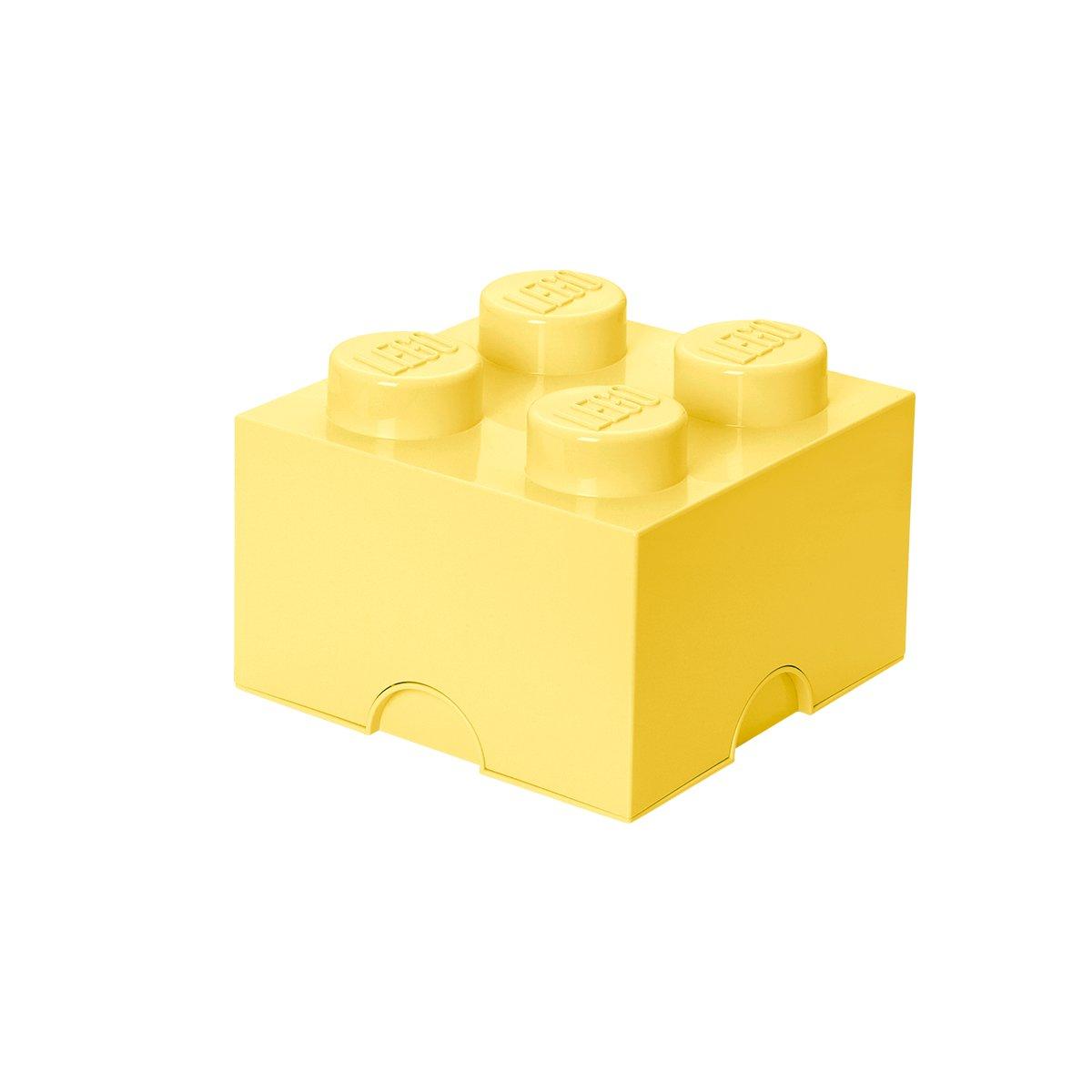 Contenitore Impilabile 5,7 Litri Verde Menta Mattoncino-contenitore Lego a 4 Bottoncini