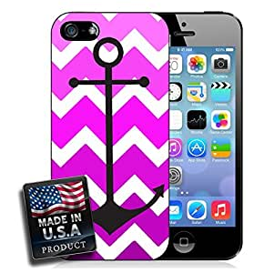 Colorful Ombre Chevron Anchor iPhone 4/4s Hard Case by mcsharks