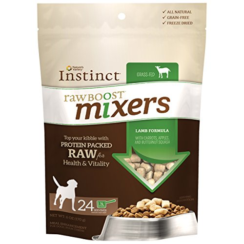 Instinct Freeze Dried Raw Boost Mixers Grain Free Lamb Formula All Natural Dog Food Topper by Nature's Variety, 6 oz. Bag