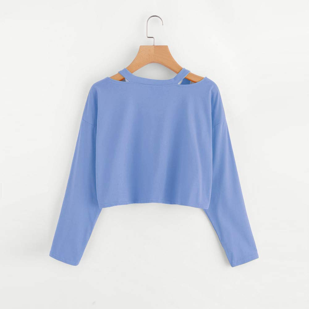 Roysberry Crop Tops for Women Rose Embroidery Long Sleeve Tops Teen Girl Clothes