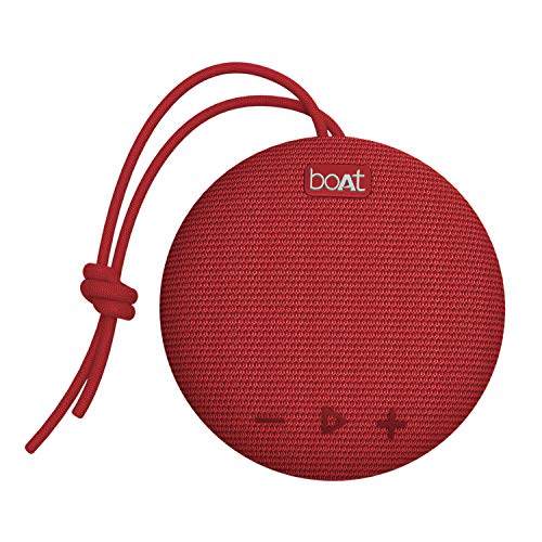 boAt Stone 190 Portable Wireless Speaker with 5W Sound, Bluetooth V5.0, IPX7 Water & Splash Resistance, Lightweight Build, TWS Feature and Carry Strap (Red)