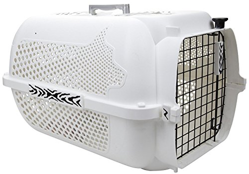 Dogit Dog Crate and Travel Carrier White Tiger Voyager, Crate For Pets, White, Large