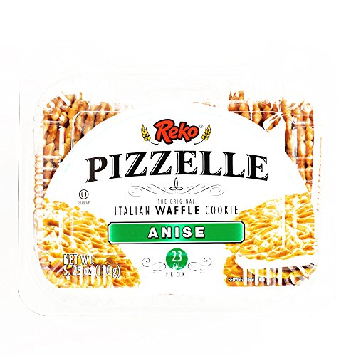 Reko Anise Pizzelle Cookies 5.25 oz each (4 Items Per Order, not per (Halloween Pizzelles)