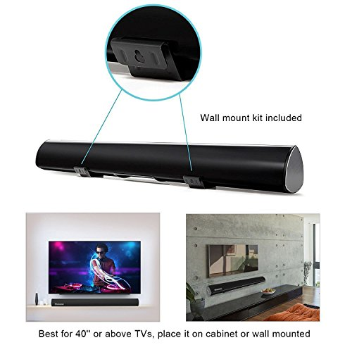 Wohome TV Sound Bar Wireless Bluetooth and Wired Home Theater Speaker System (40, 6 Drivers, 80W, 3D Surround Sound,105dB Audio Output, Remote Control, Wall Mountable, Model S9920)