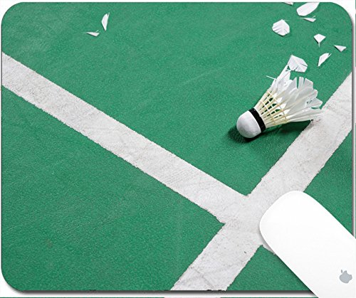Luxlady Gaming Mousepad 9 25In X 7 25In Image  34457727 Photo Of Badminton Court With A Shuttlecock At The Corner
