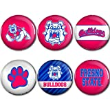 WinCraft Fresno State Bulldogs Official NCAA Metal Button Badge Pin Set 6 Pack by 989635