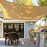 Asani Rectangle Sun Shade Sail | UV Blocking Patio Cover, Outdoor Sunshade Canopy | Weather-Resistant Fabric with Metal Hardware | Covering for Deck, Pool, Garden, Porch, Backyard (12' x 16')