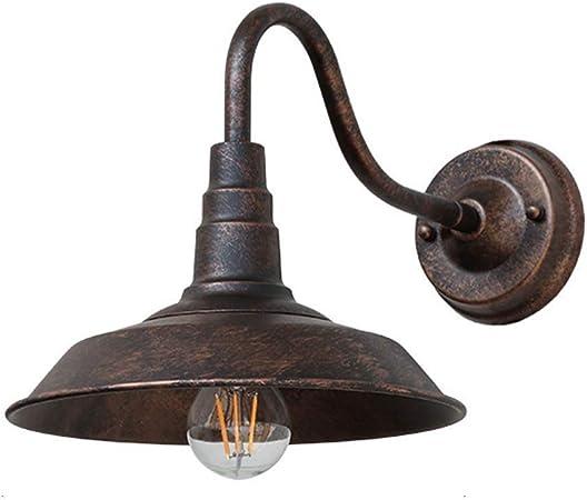 QTRT Luz de pared industrial al aire libre Apliques de jardín vintage Iluminación Decorar Cubierta de lámpara de pared Forma creativa antigua Diseño impermeable for Villa Porche, casa de campo, puerta: Amazon.es: