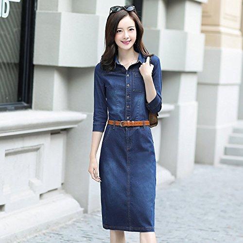 2018 Robes en Blue Denim Cow Nouvelle Jupe MiGMV Boy d't l'usure M Denim Jupe Jeans Grande dwgOOqEY