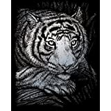 ROYAL BRUSH Silver Foil Engraving Art Kit, 8-Inch by 10-Inch, White Tiger