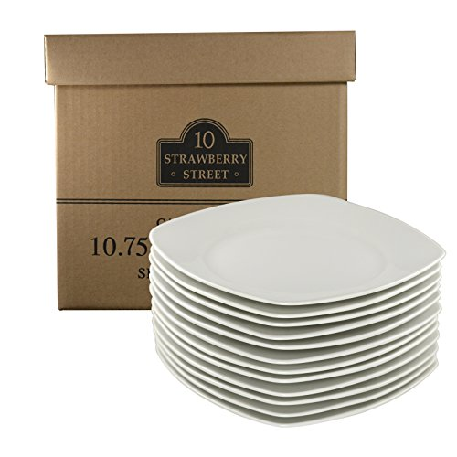 10 Strawberry Street Square Catering Packs - Set of 12 - 10.5