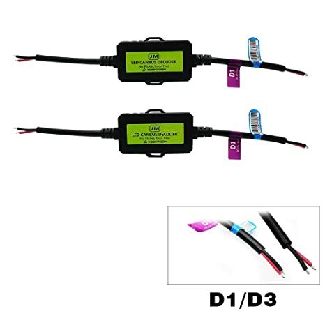 KOOMTOOM Decodificador Canbus D1S D3S D1R D3R Cableado antirreflectante Resistor Led Faro del faro Parpadeo Parpadeante