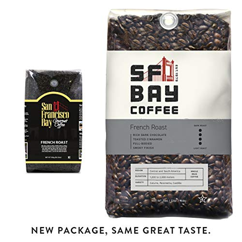 SF Bay Coffee French Roast Whole Bean 2LB (32 Ounce) Dark Roast (Packaging May Vary) (San Francisco Whole Bean Coffee)