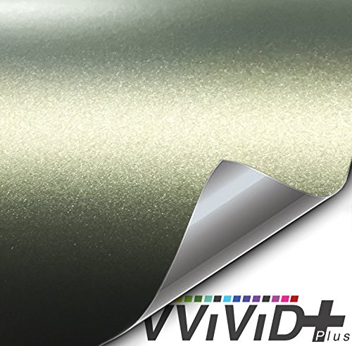 Military Wrap (VViViD Matte Metallic Military Green (Ghost) Vinyl Wrap Roll (1ft x 5ft))