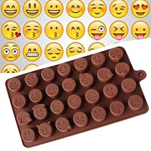 Emoji Face Cake Chocolate Cookie Ice Cube Soap Silicone Mold Unique Tray Baking Mould