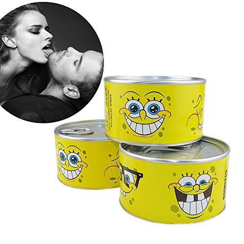 Spongebob Funny Condoms Jar As Creative Tricky Gifts Flavors Cartoon Lubricated Latex Condoms for Oral Anal (Flavor Lubricated Condoms)