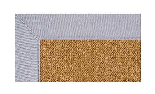 11 ft. x 8 ft. Athena Rug in Cork with Ice Blue Border -
