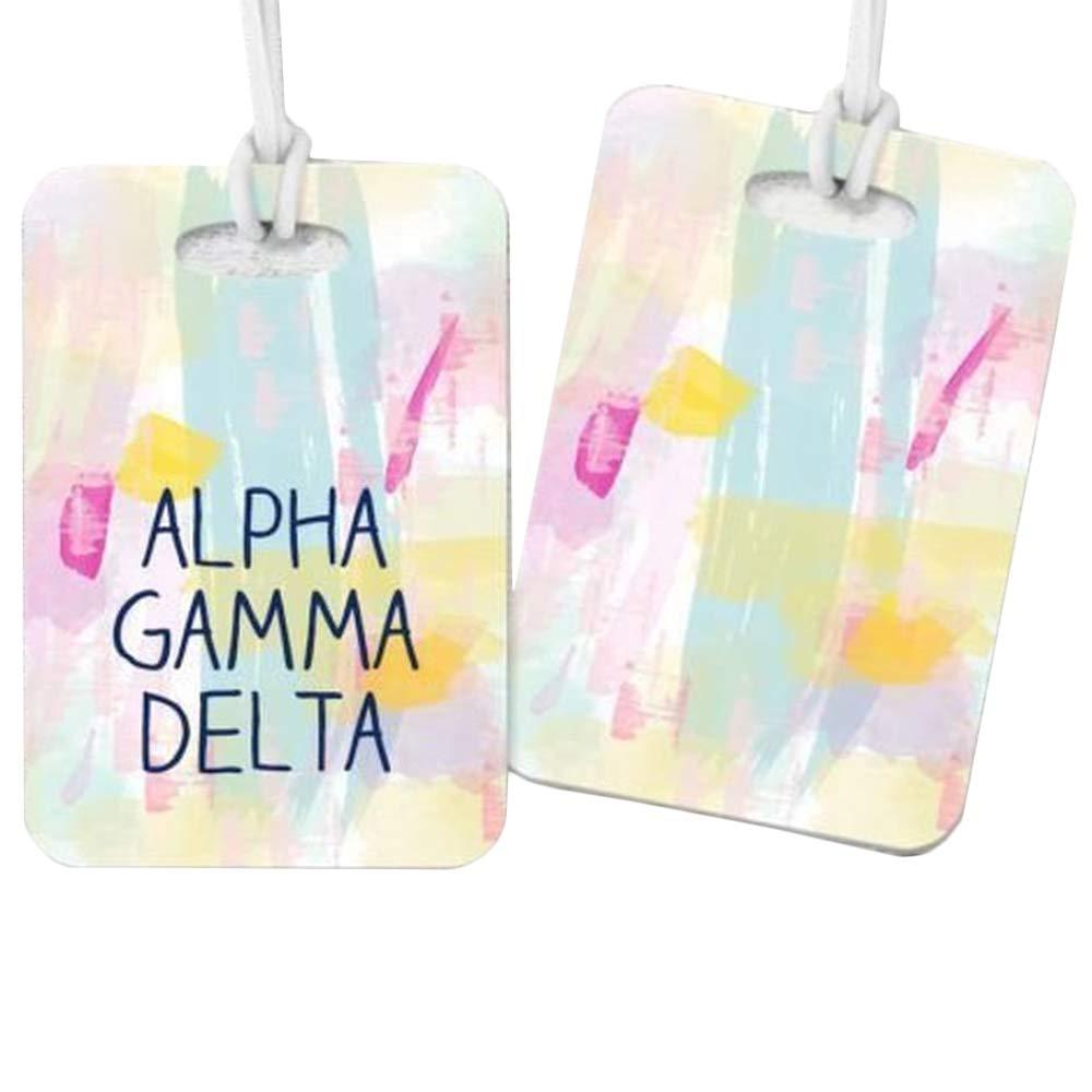 Alpha Gamma Delta Watercolor Luggage Tag