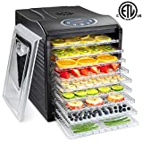 Ivation 600w Electric Food Dehydrator Pro with 9 Drying Trays, Digital Temperature Controls and Timer with Automatic Shutoff from 95ºF to 158ºF, for Beef Jerky, Dried Fruits, Vegetables & Nuts review