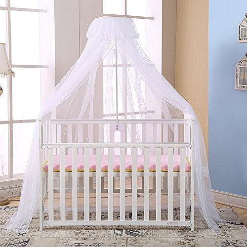 Sanmubo Premium Baby Bed Canopy Netting Cover Mesh Top Nursery Mosquito Net Unisex Infant Crib Tent Net Baby Children Mosquito Net Cover Yurt Mosquito Mesh Cover Pop up Tent