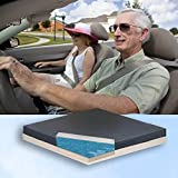 FLUIDIZED GEL CAR CUSHION Maximum Comfort & Pain Relief by Blue Chip Medical 18 x 16 x 2.5